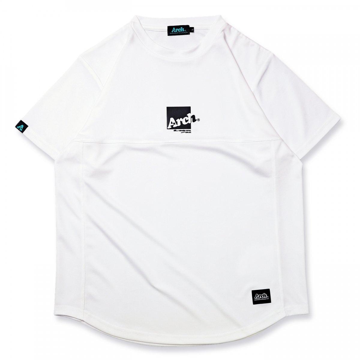 box logo switching tee [DRY]【white】