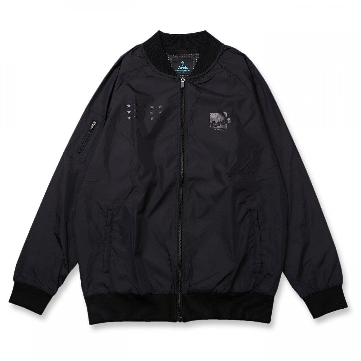 box logo bomber jacket【black】