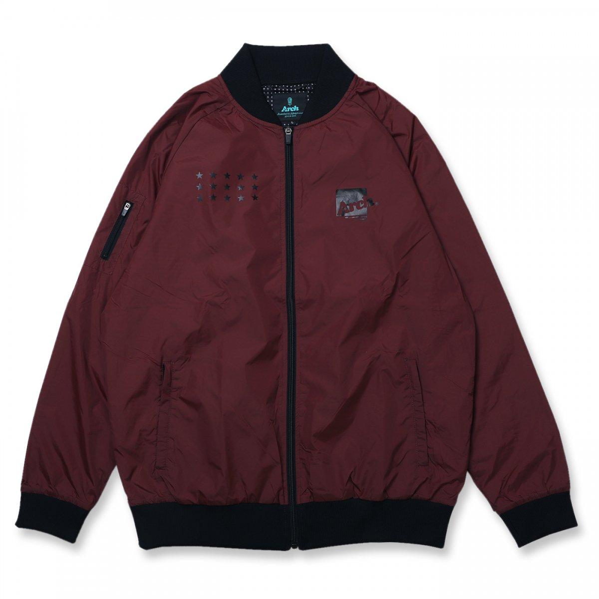 box logo bomber jacket【dark maroon】