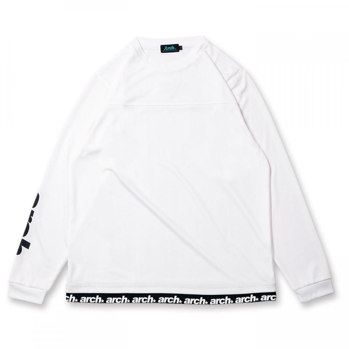 sporty logo L/S tee [DRY]【white】