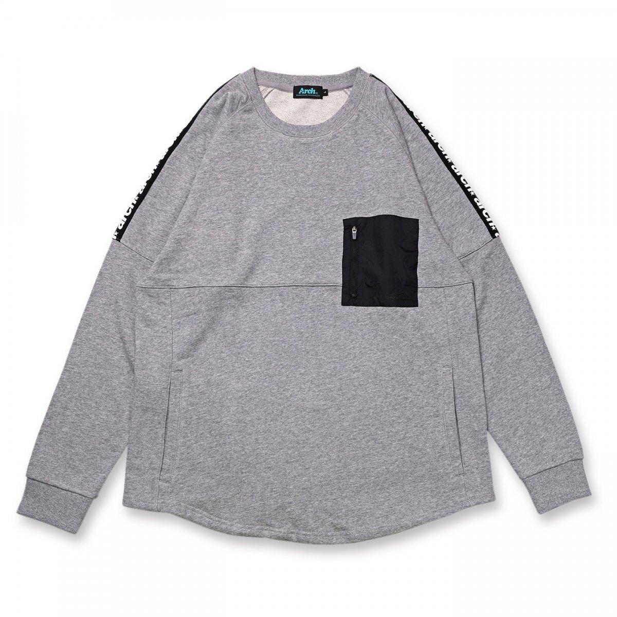 sporty logo sweat【gray】