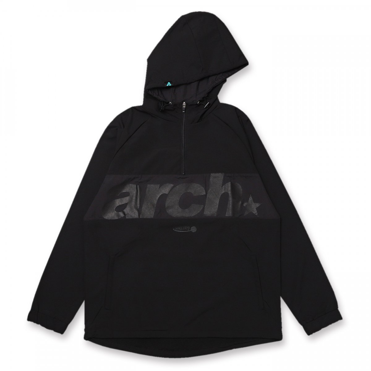 sporty logo anorak jacket【black】