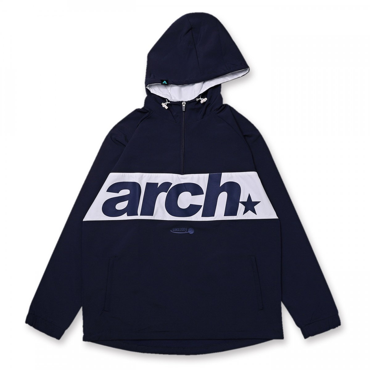 sporty logo anorak jacket【navy】