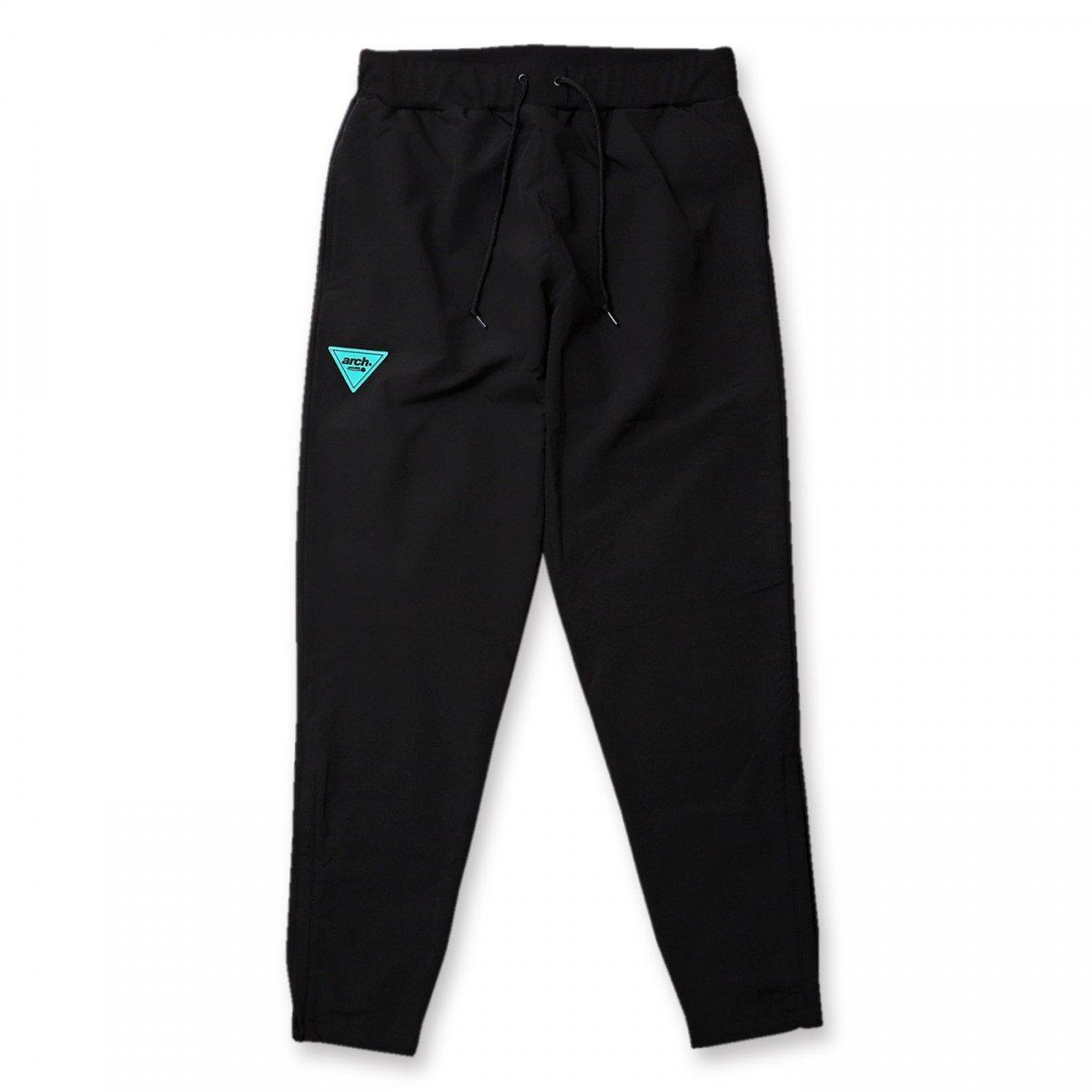 sporty logo warm up pants【black】