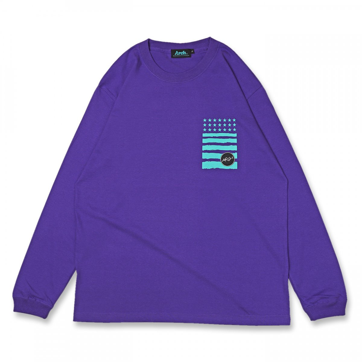 lettered logo L/S tee【purple】