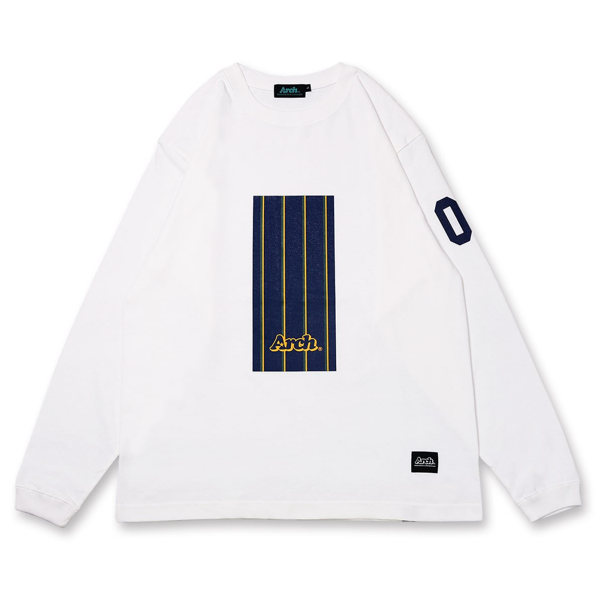 trad stripe box L/S tee【white】