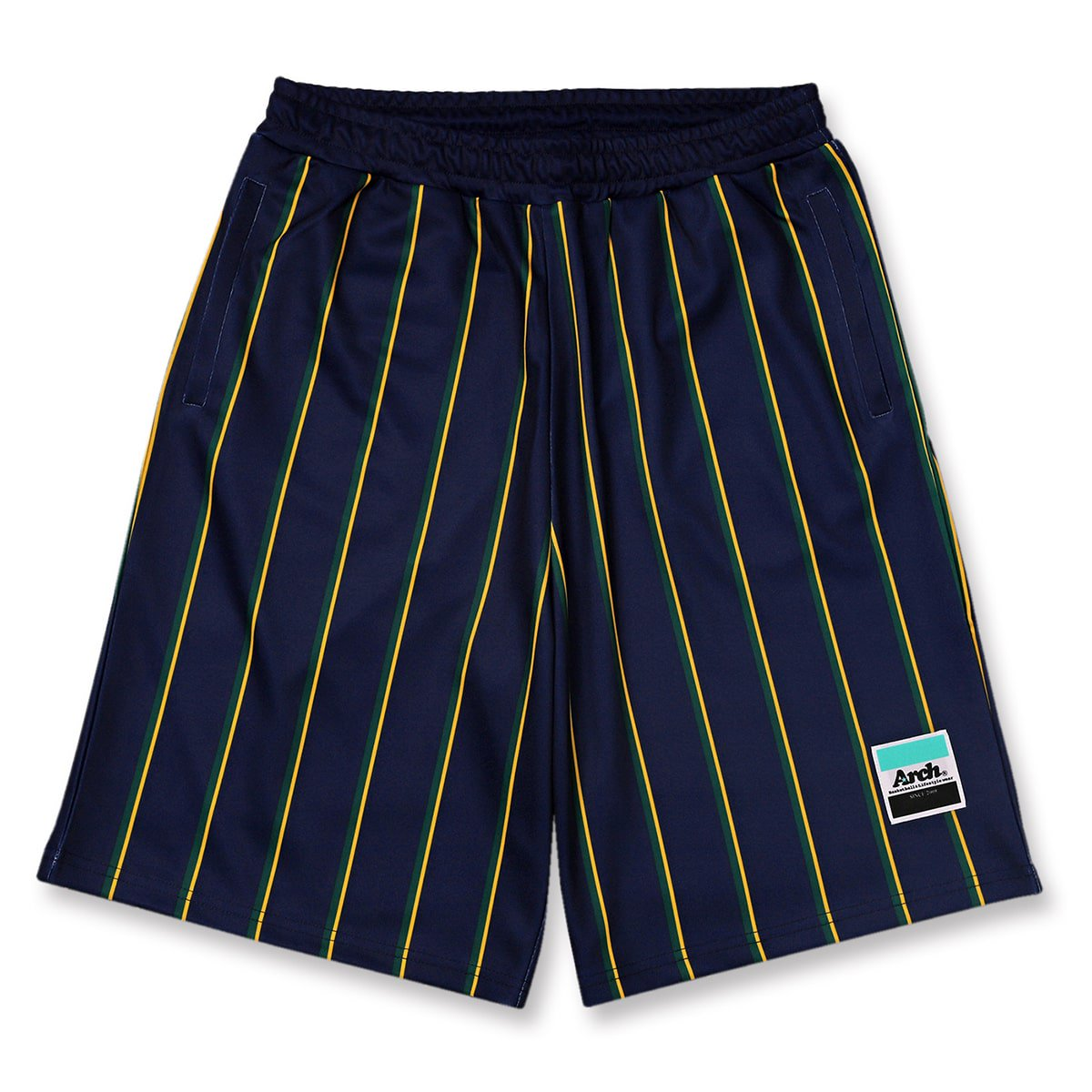 trad stripe shorts【navy】