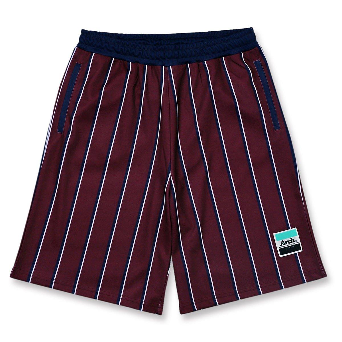 trad stripe shorts【burgundy】