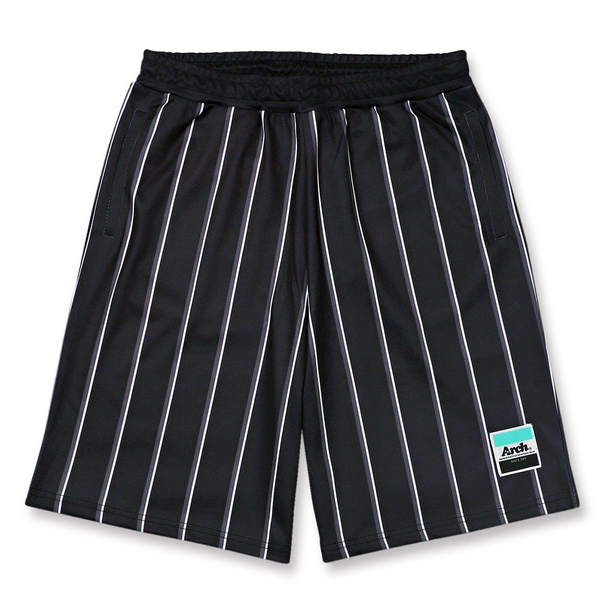 trad stripe shorts【black】