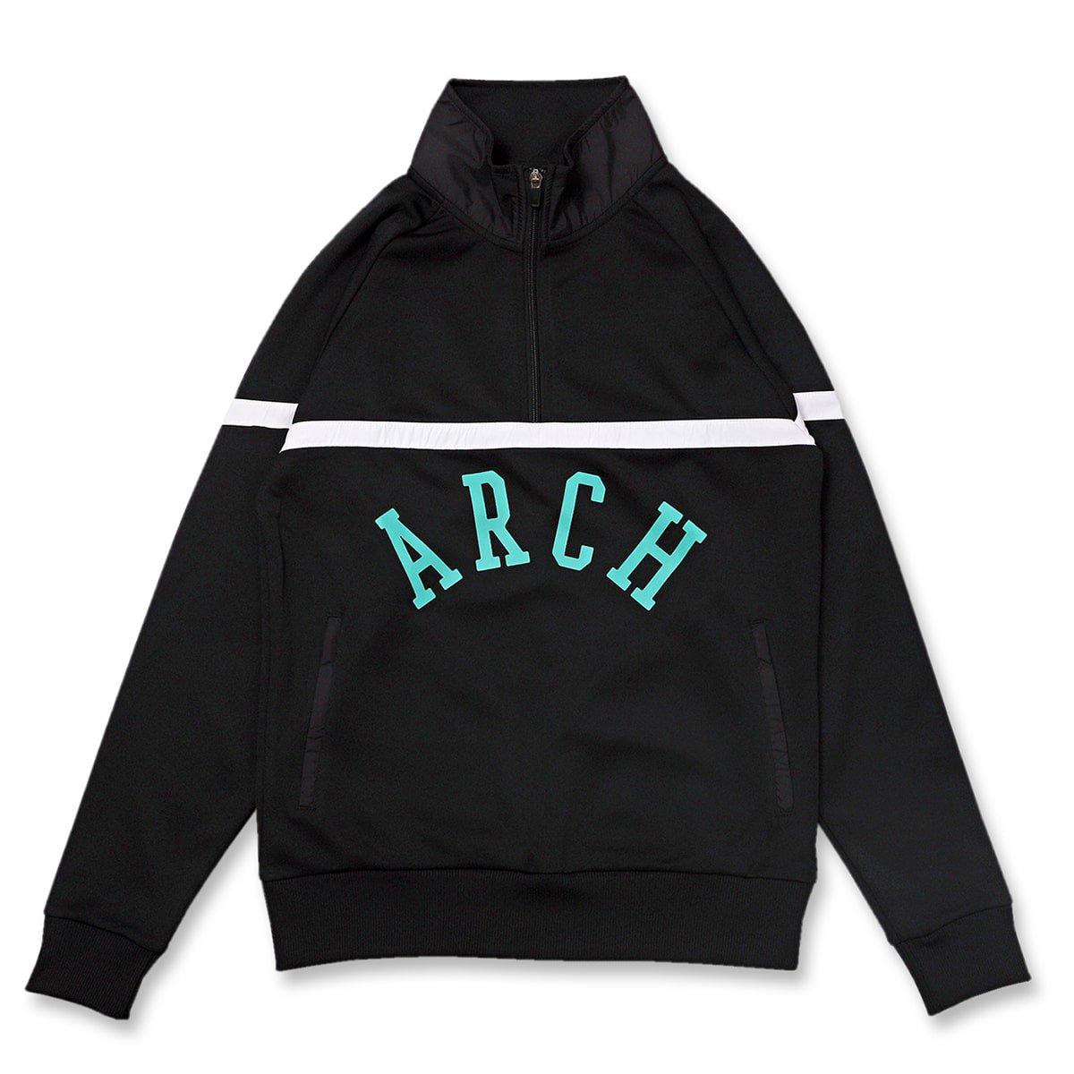 half zipped jersey【black】