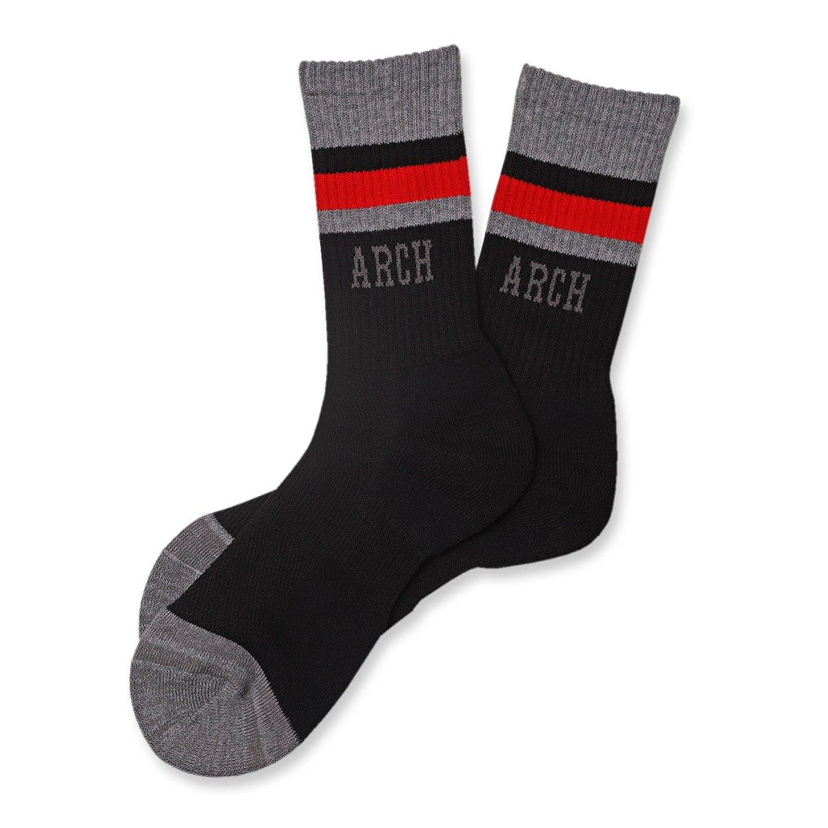 TL sport crew mid. socks【black/heather gray】