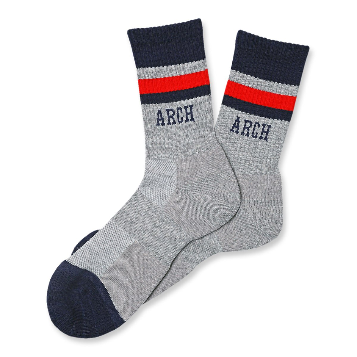 TL sport crew mid. socks【gray/navy】