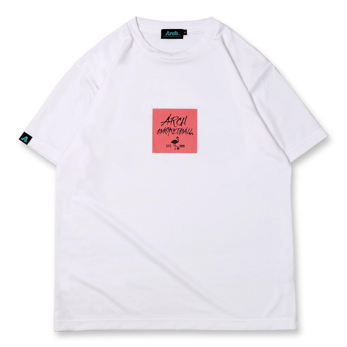 バスケ アーチ  フラミンゴTシャツ ホワイト