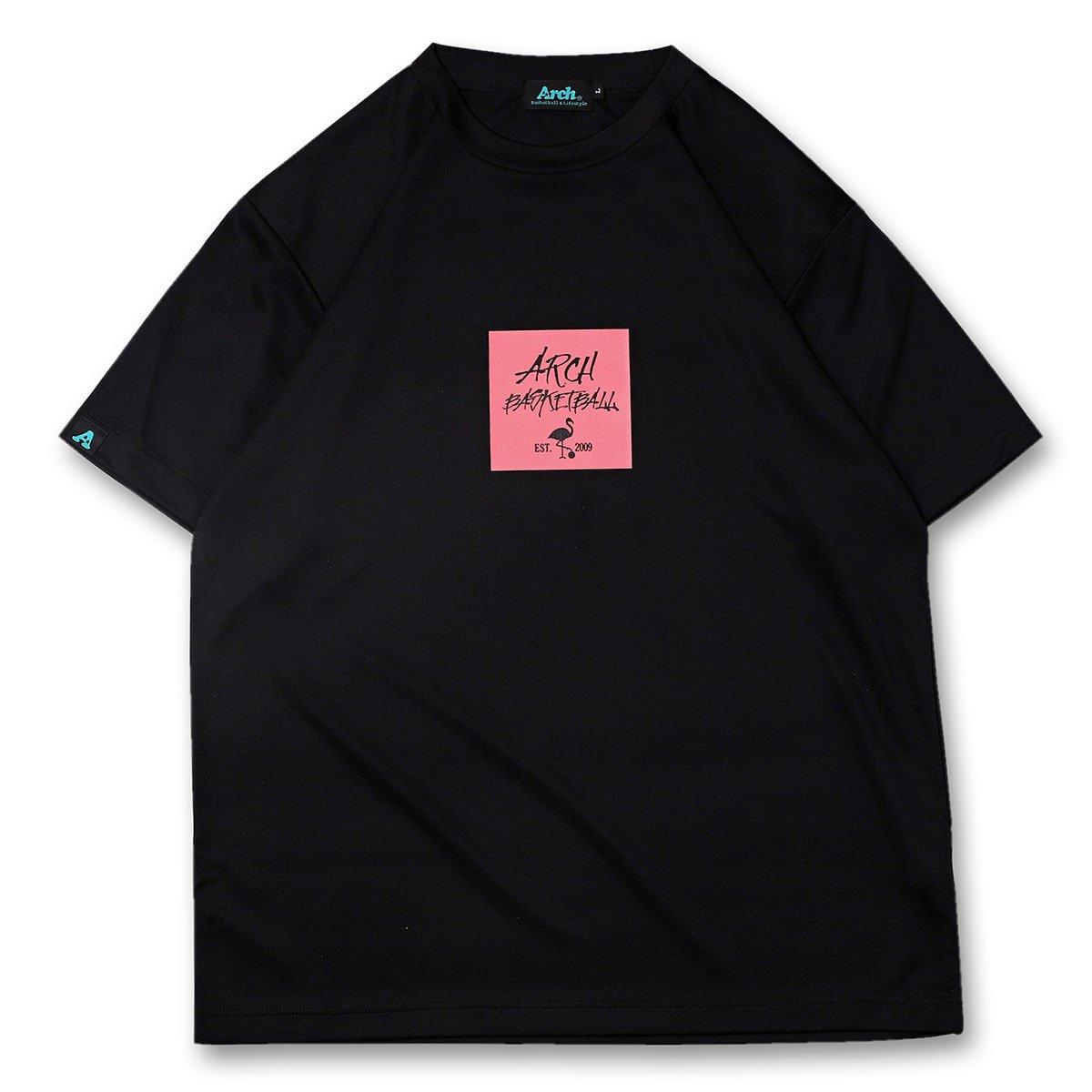 バスケ アーチ  フラミンゴTシャツ ブラック