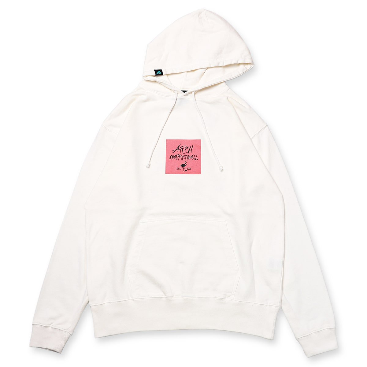 pigment dyed flamingo parka【white】