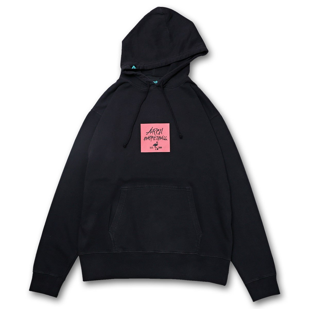 pigment dyed flamingo parka【black】