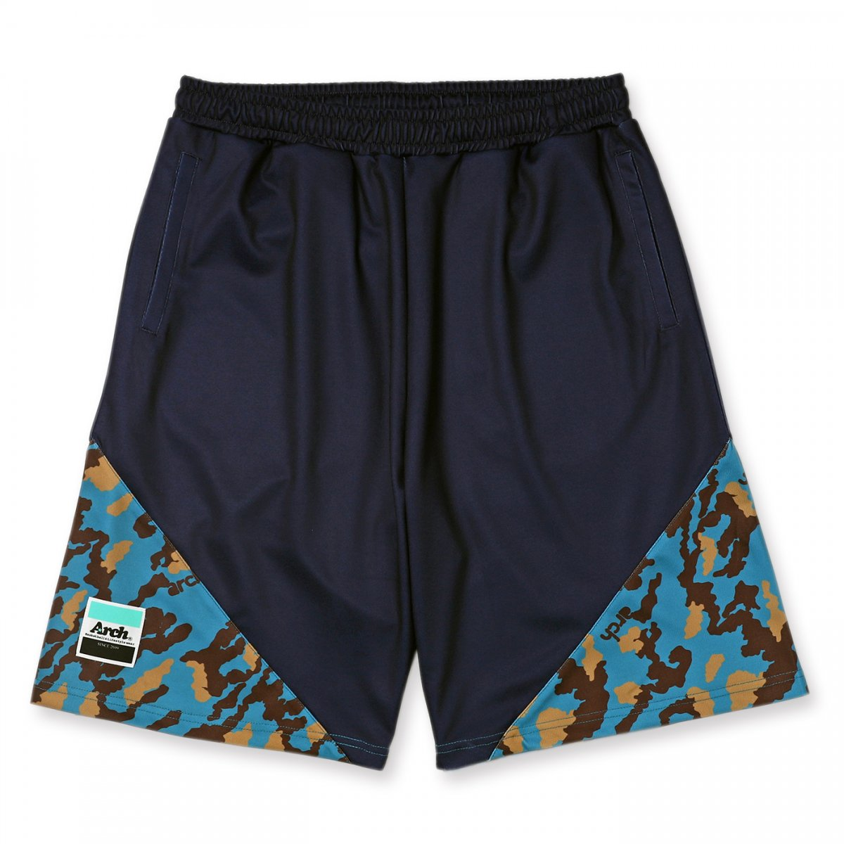 flex camo shorts【navy】
