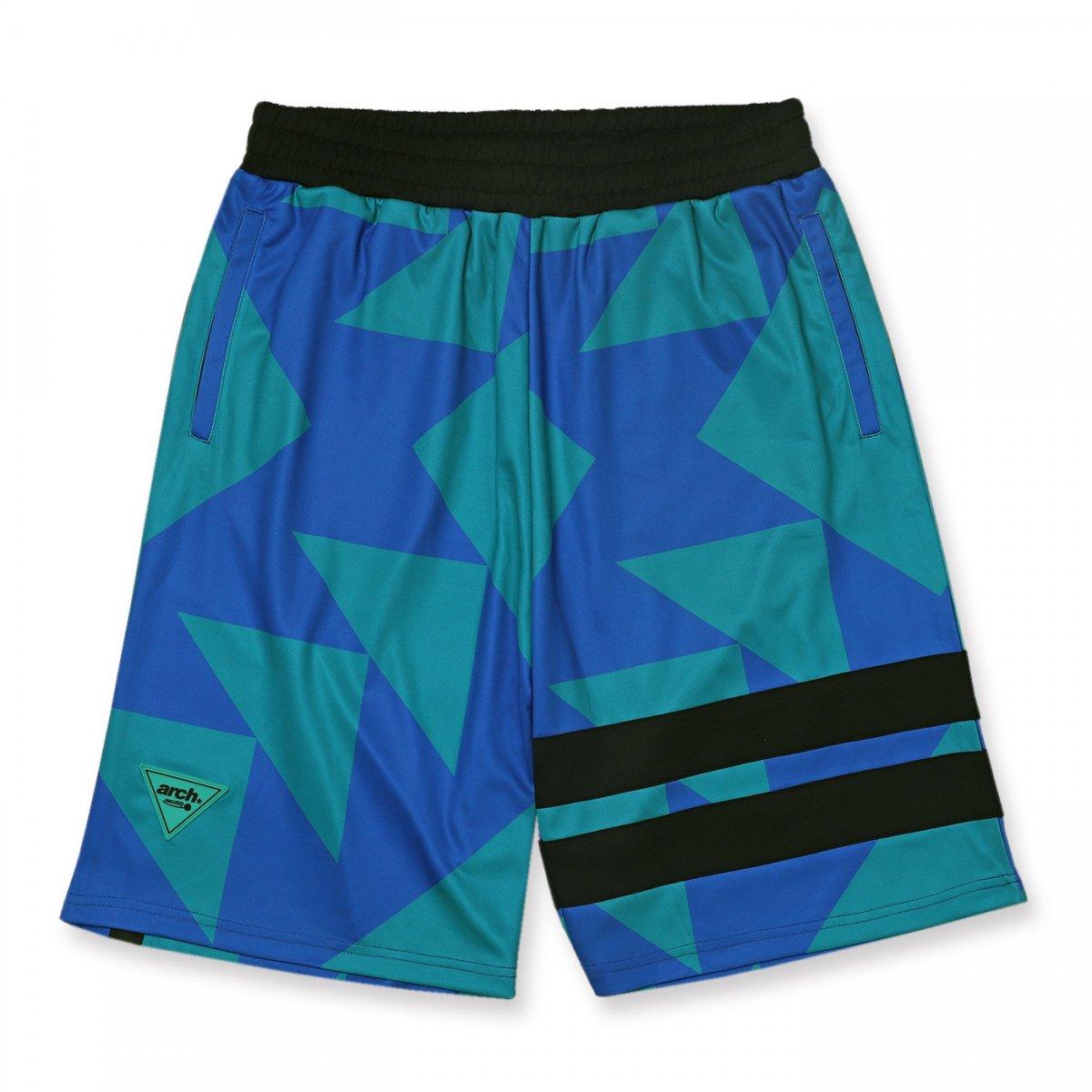 sporty logo shorts【turquoise】