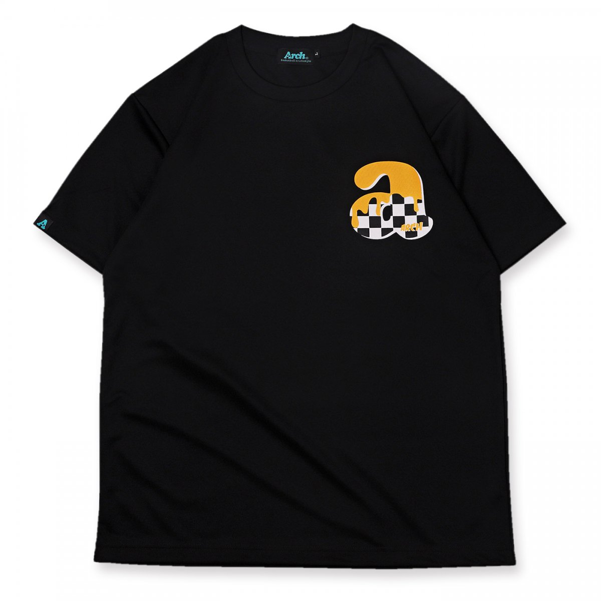 team checker tee [DRY]【black】