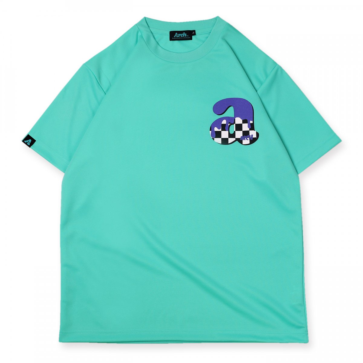 team checker tee [DRY]【mint green】