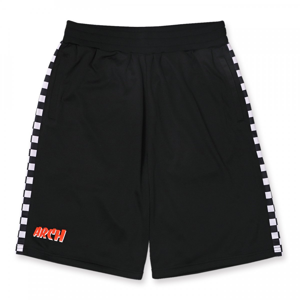 team checker shorts【black】