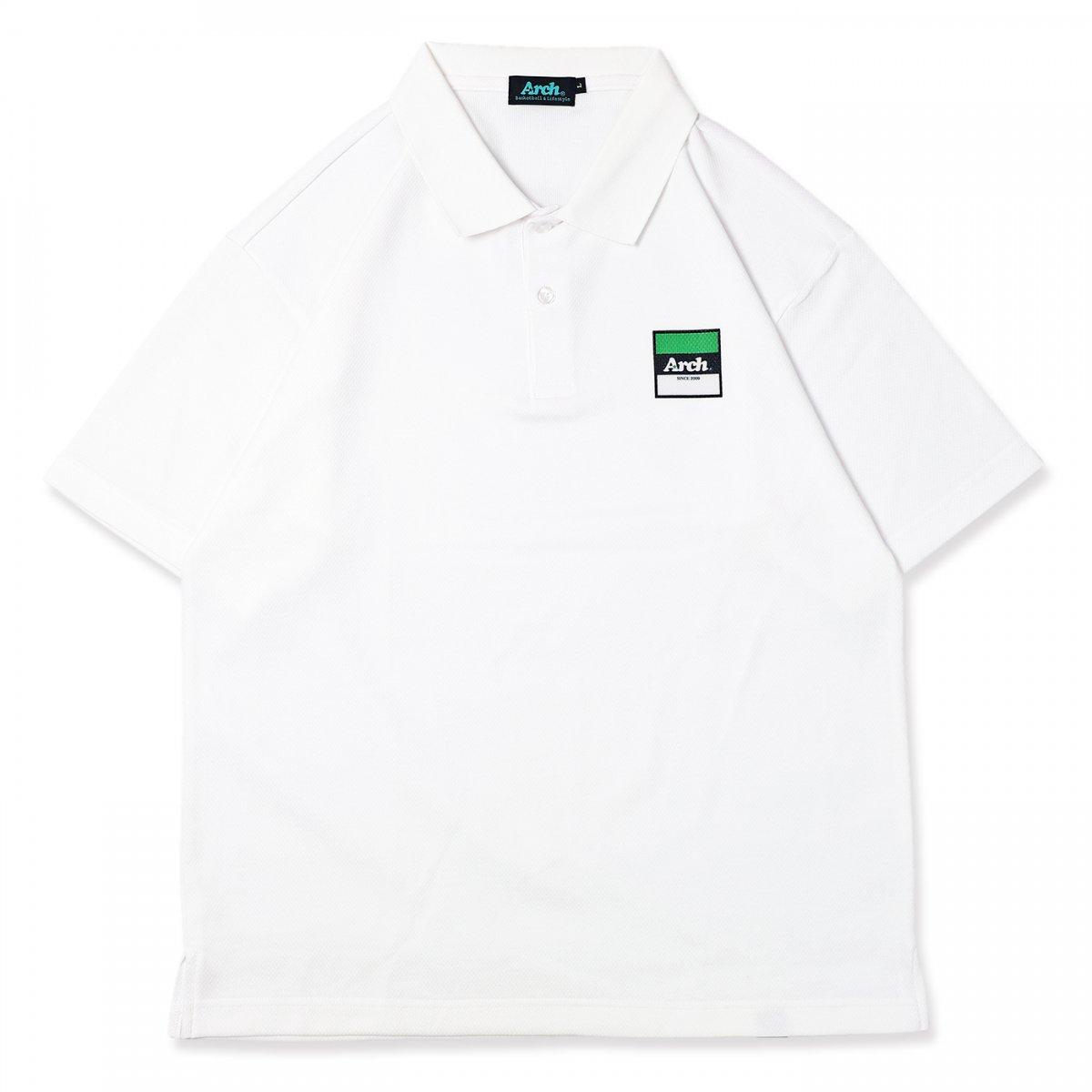 trico logo polo [DRY]【white】