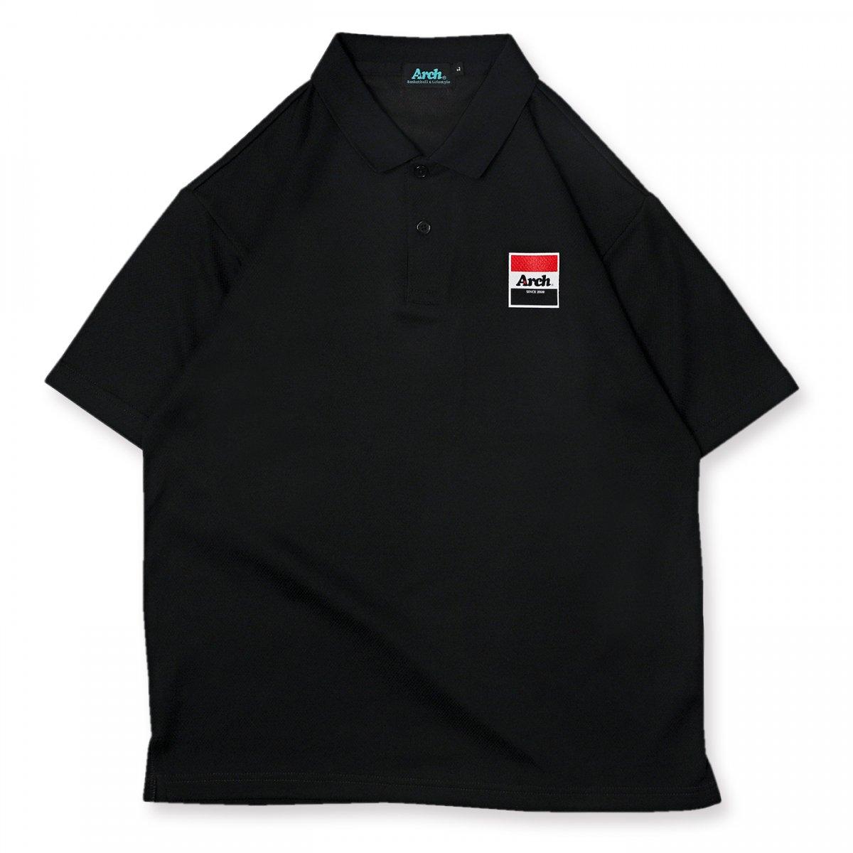 trico logo polo [DRY]【black】
