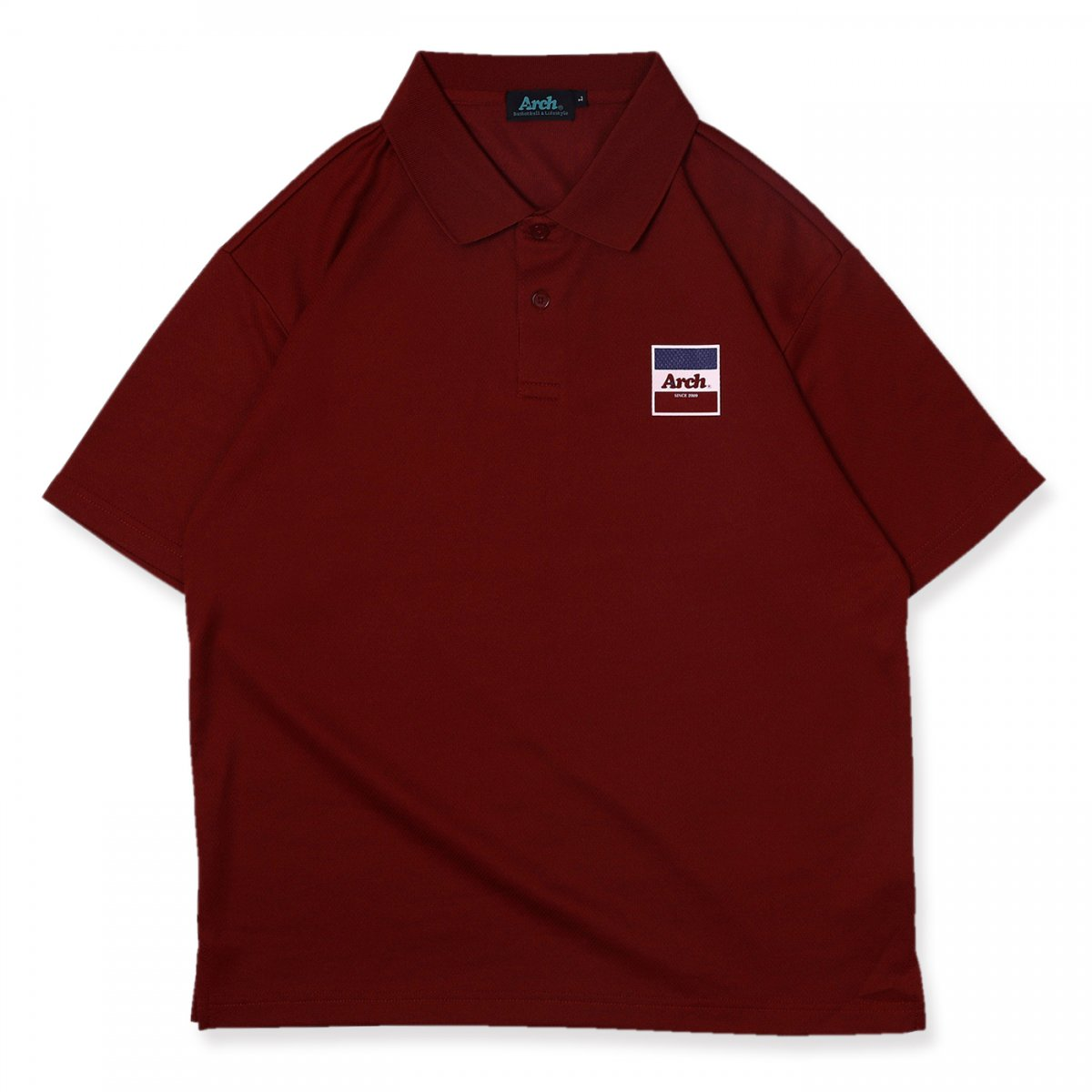 trico logo polo [DRY]【burgundy】
