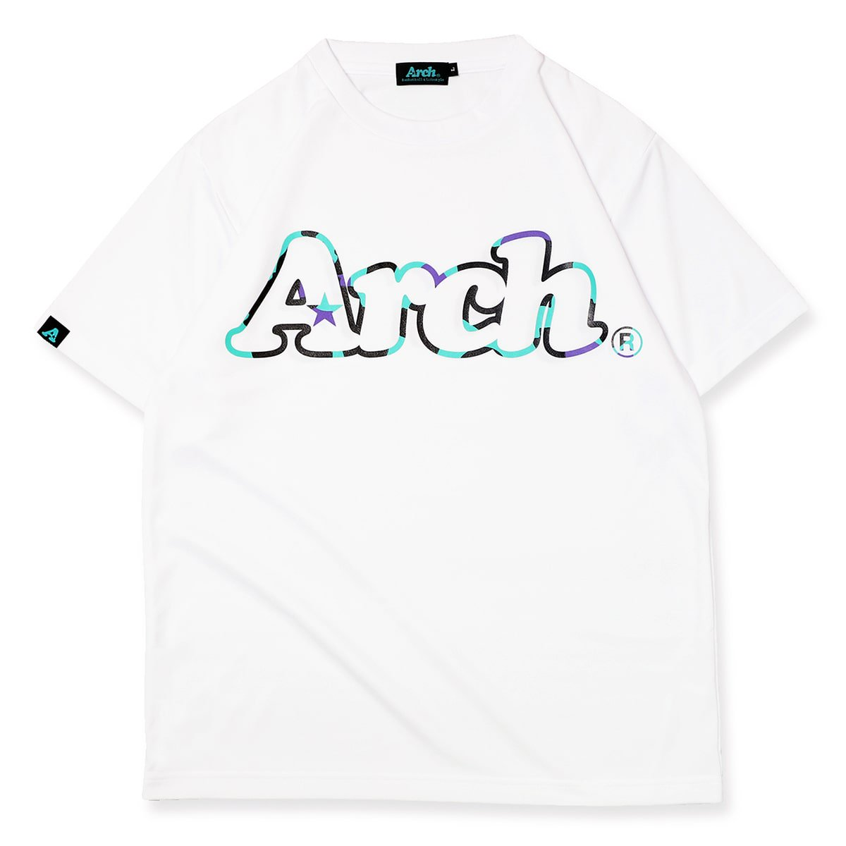 neon outline logo tee [DRY]【white】