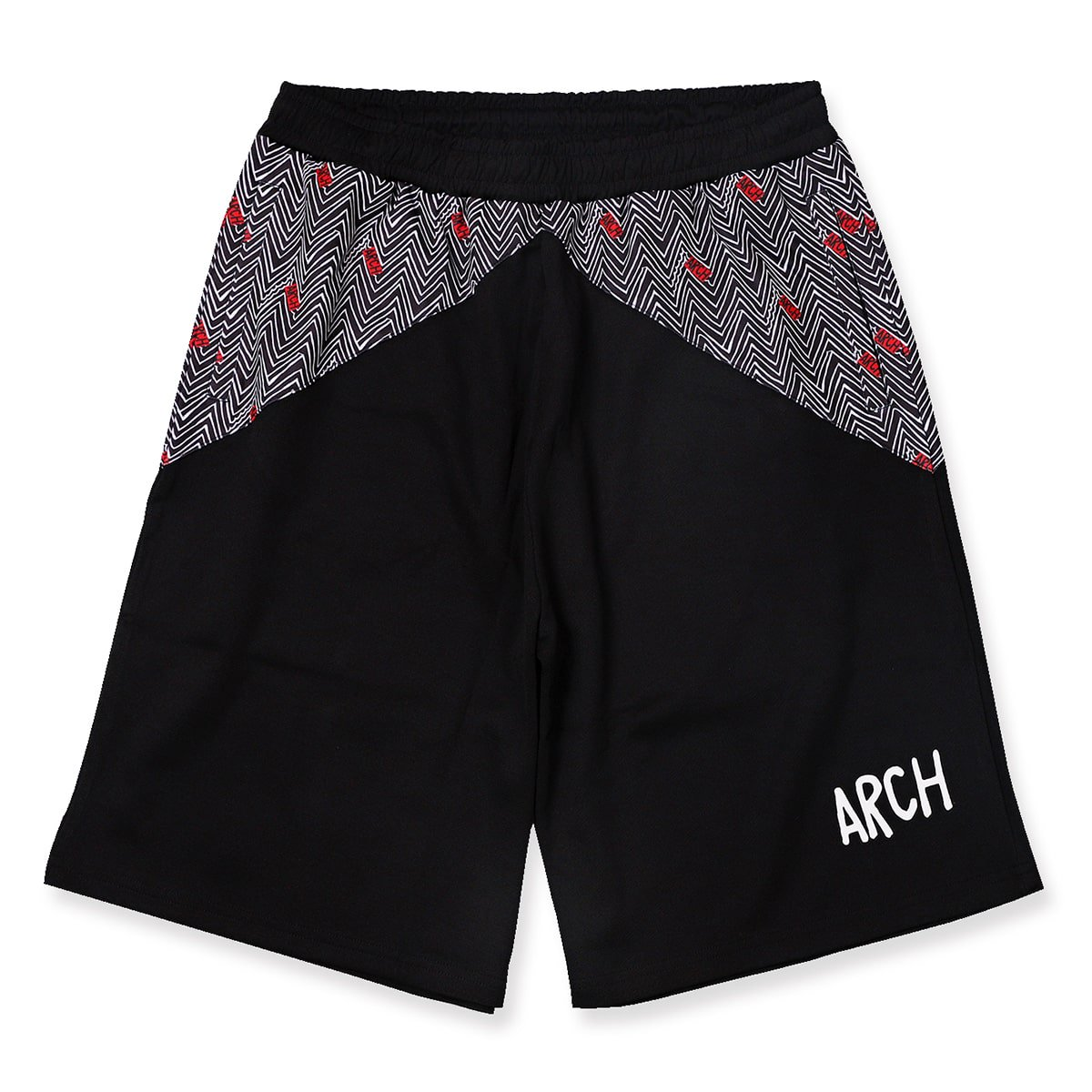 jaggy shorts【black/white】
