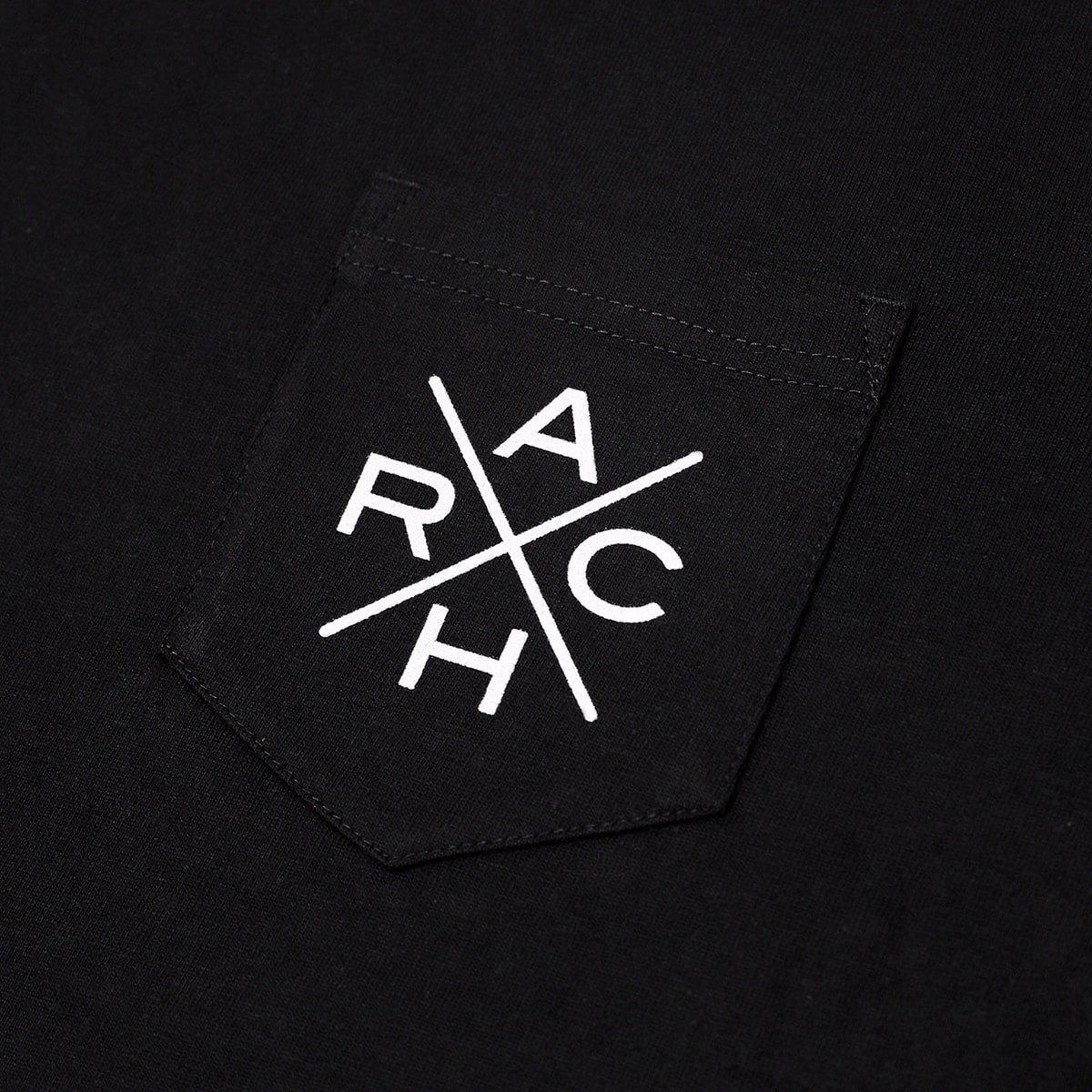 crossover pocket tee【black】
