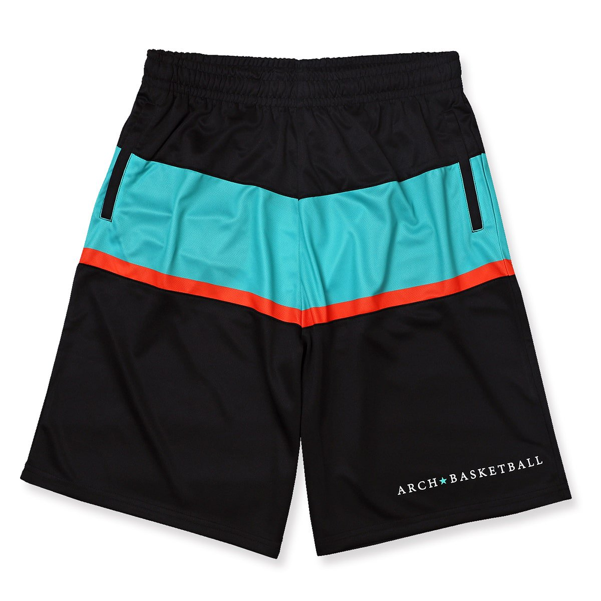 paneled shorts【black/mint】