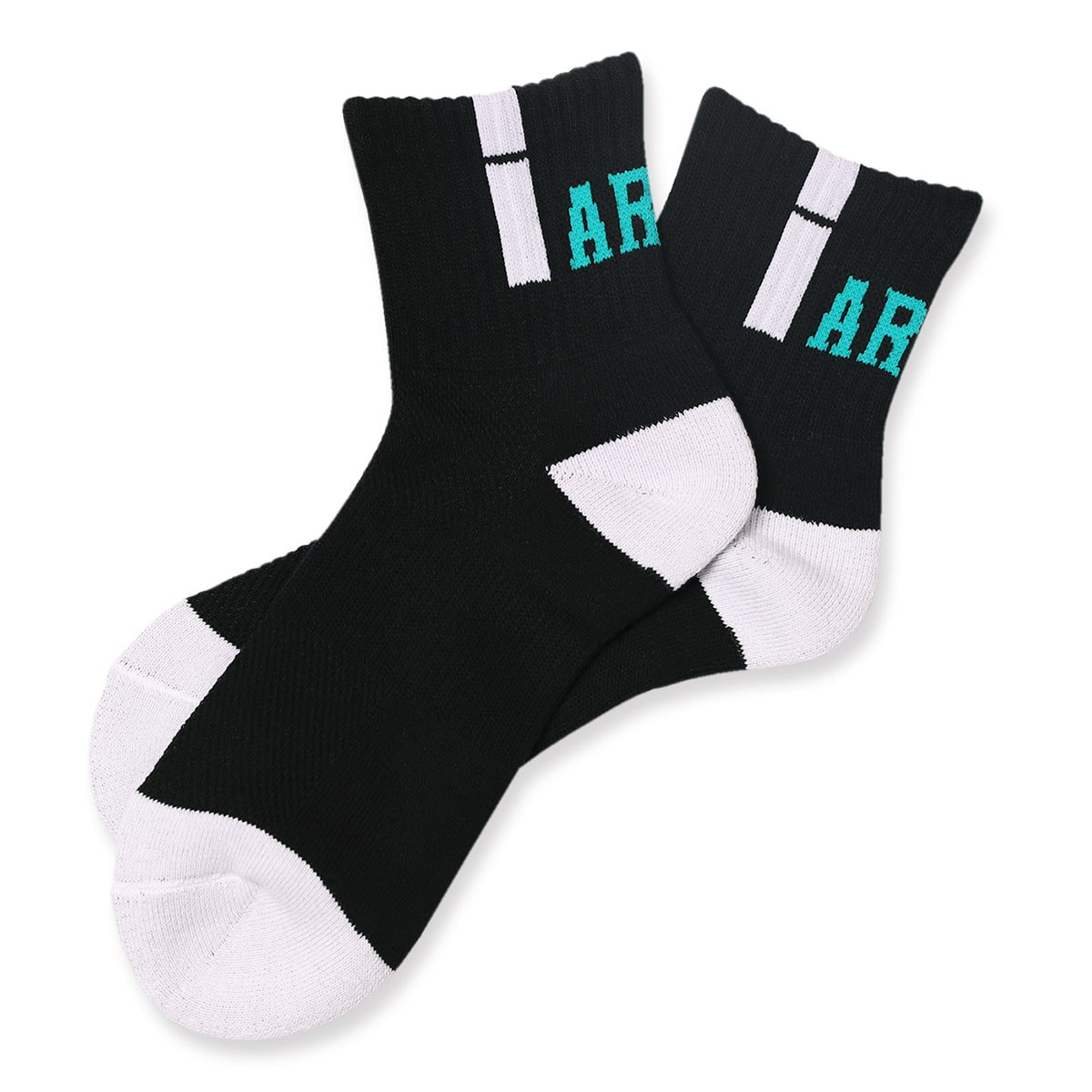 vertical crew socks【black/white】
