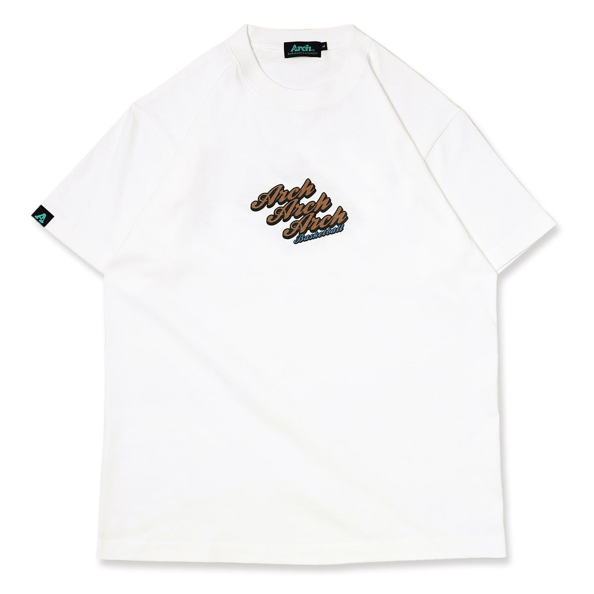 triple logo tee【white】