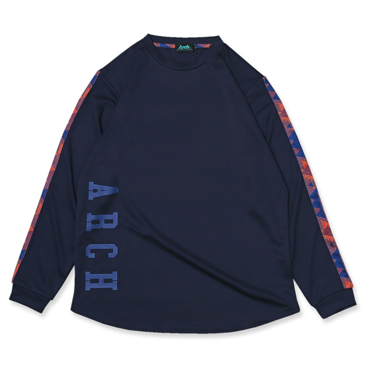 triangle native L/S tee [DRY]【navy】