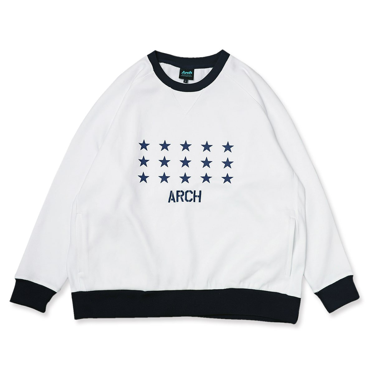 star crewneck sweat【white】
