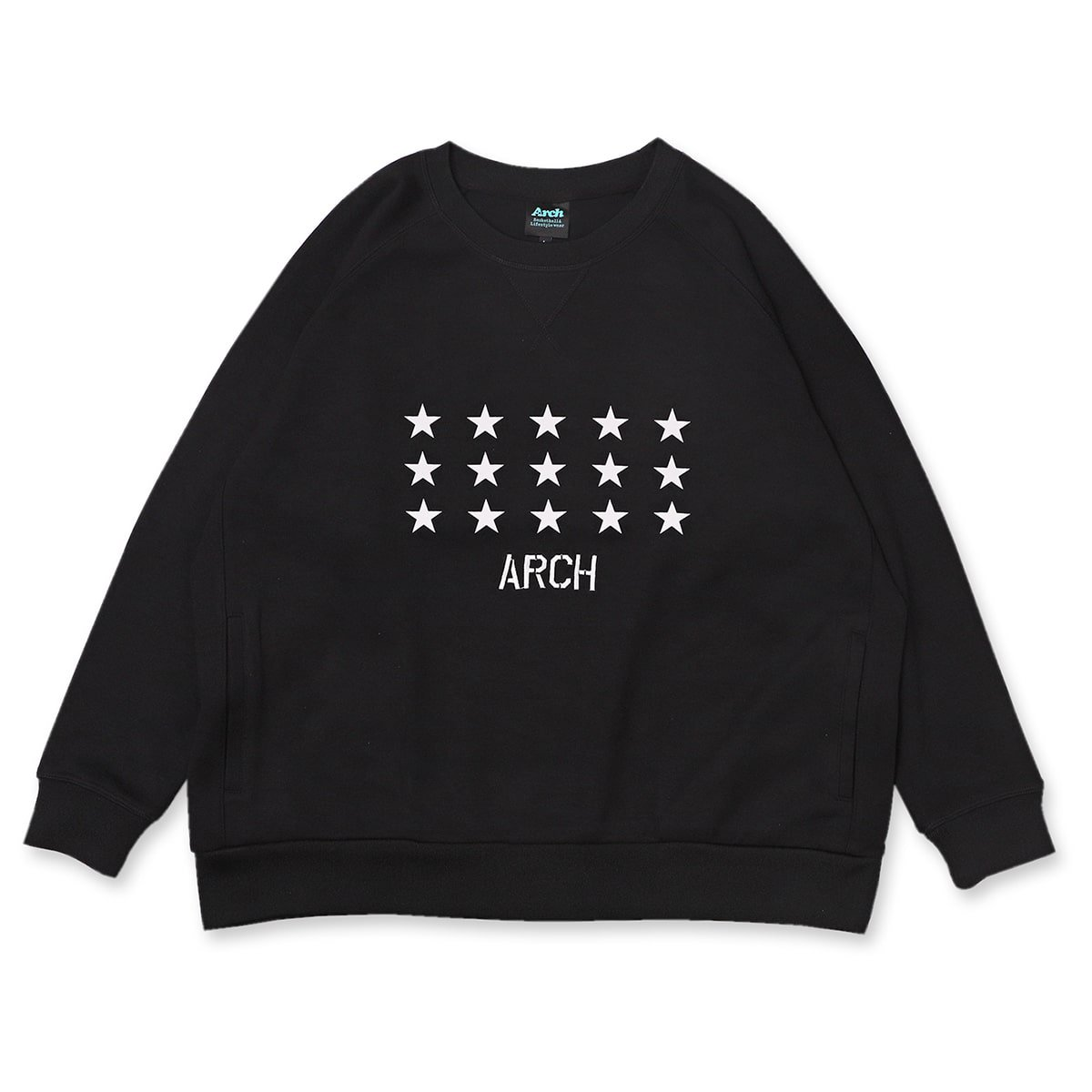 star crewneck sweat【black】