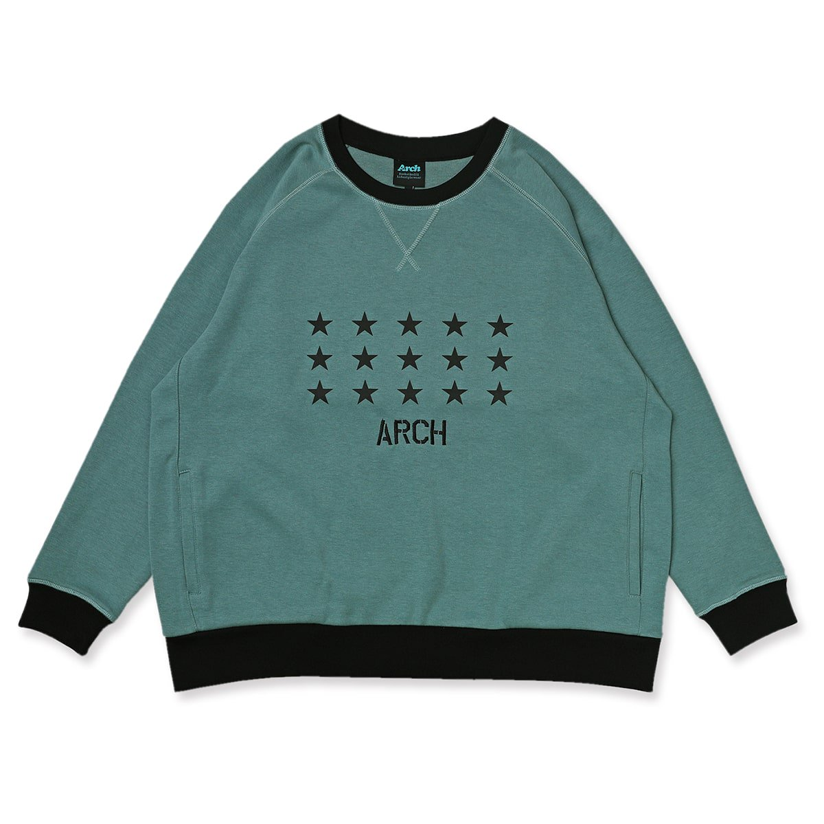 star crewneck sweat【sage green】