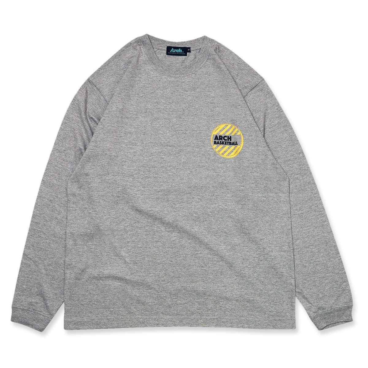 on the floor L/S tee【gray】