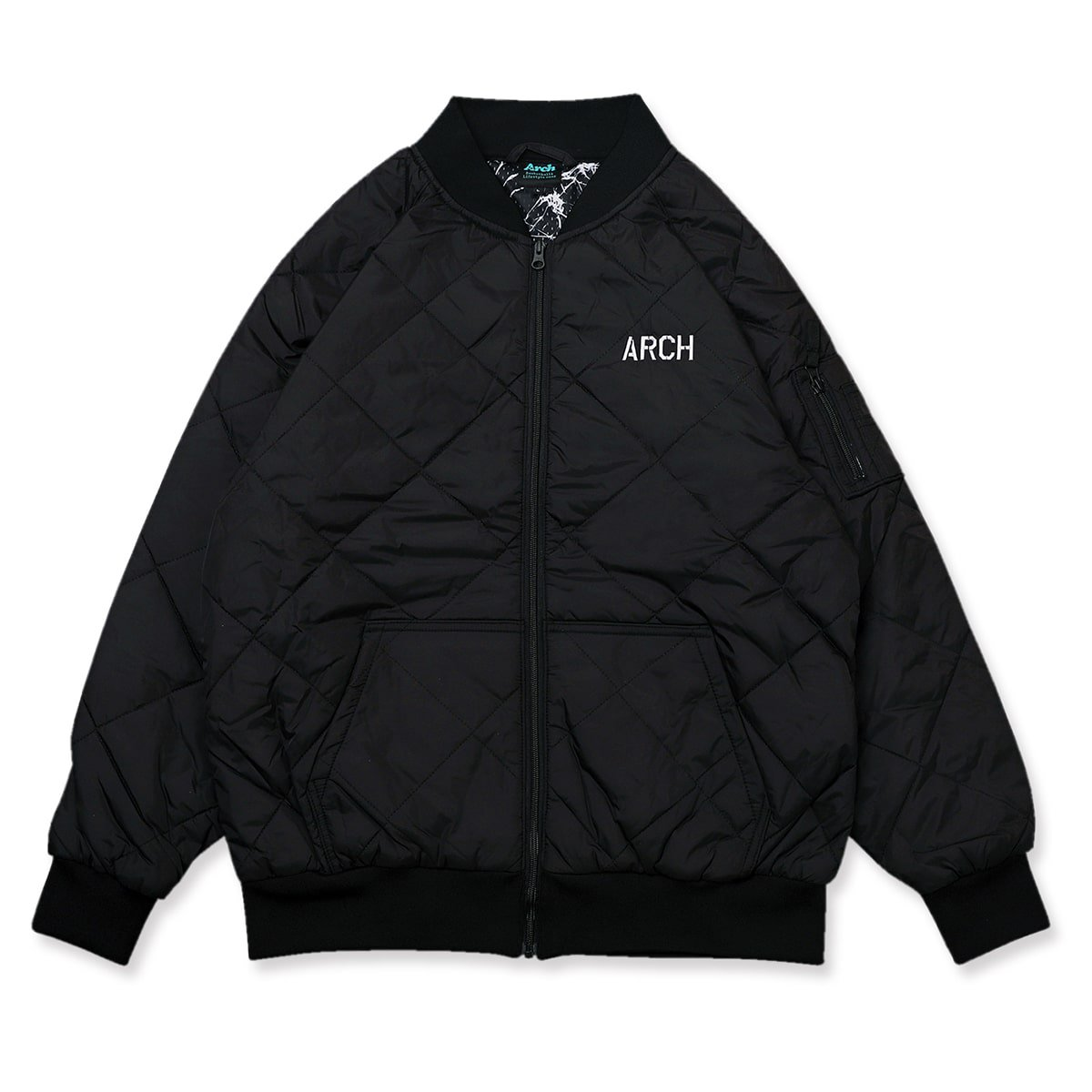 stencil flight jacket【black】