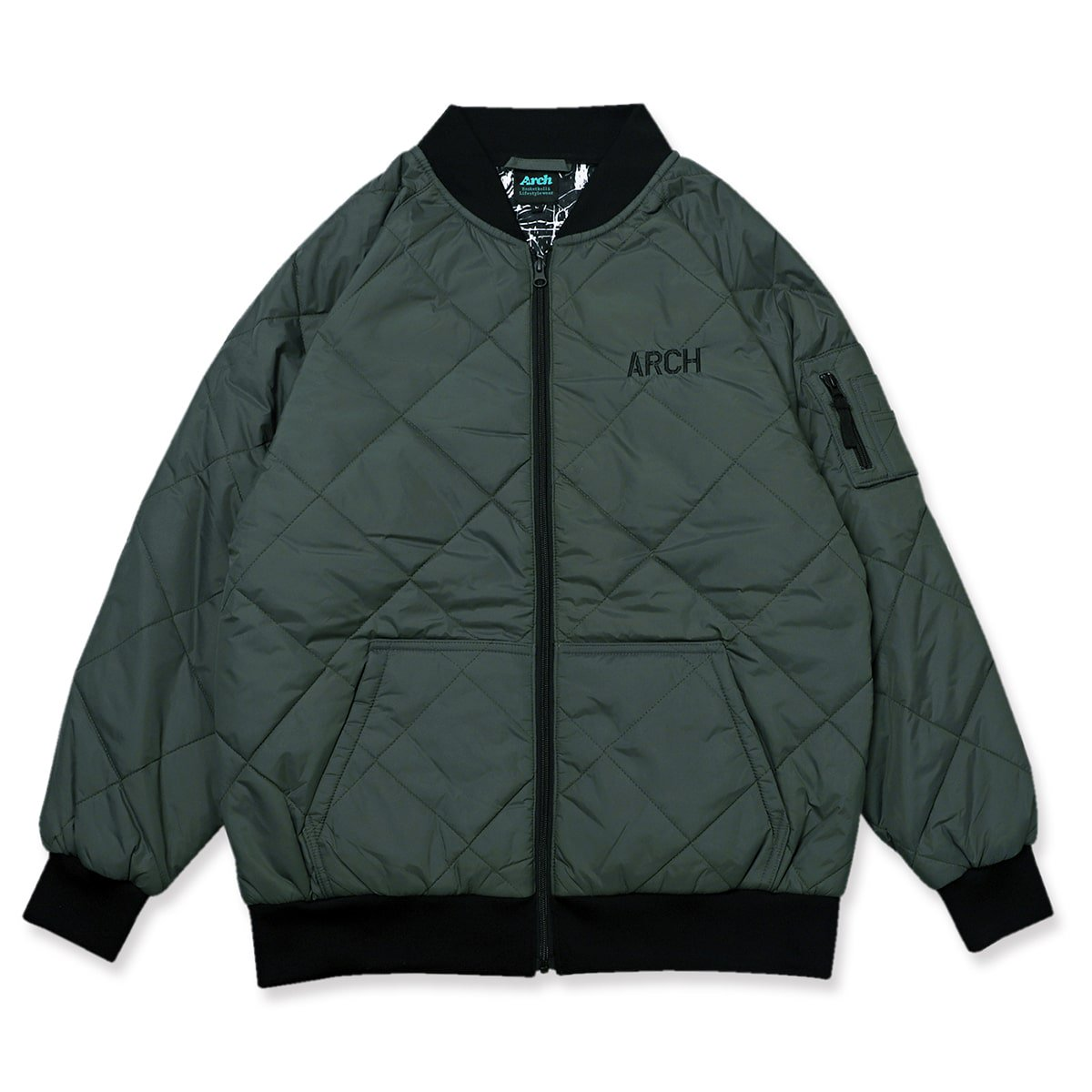 stencil flight jacket【green】
