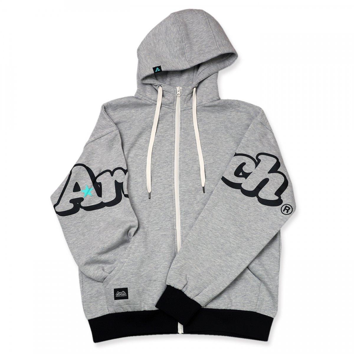 double logo parka【gray】