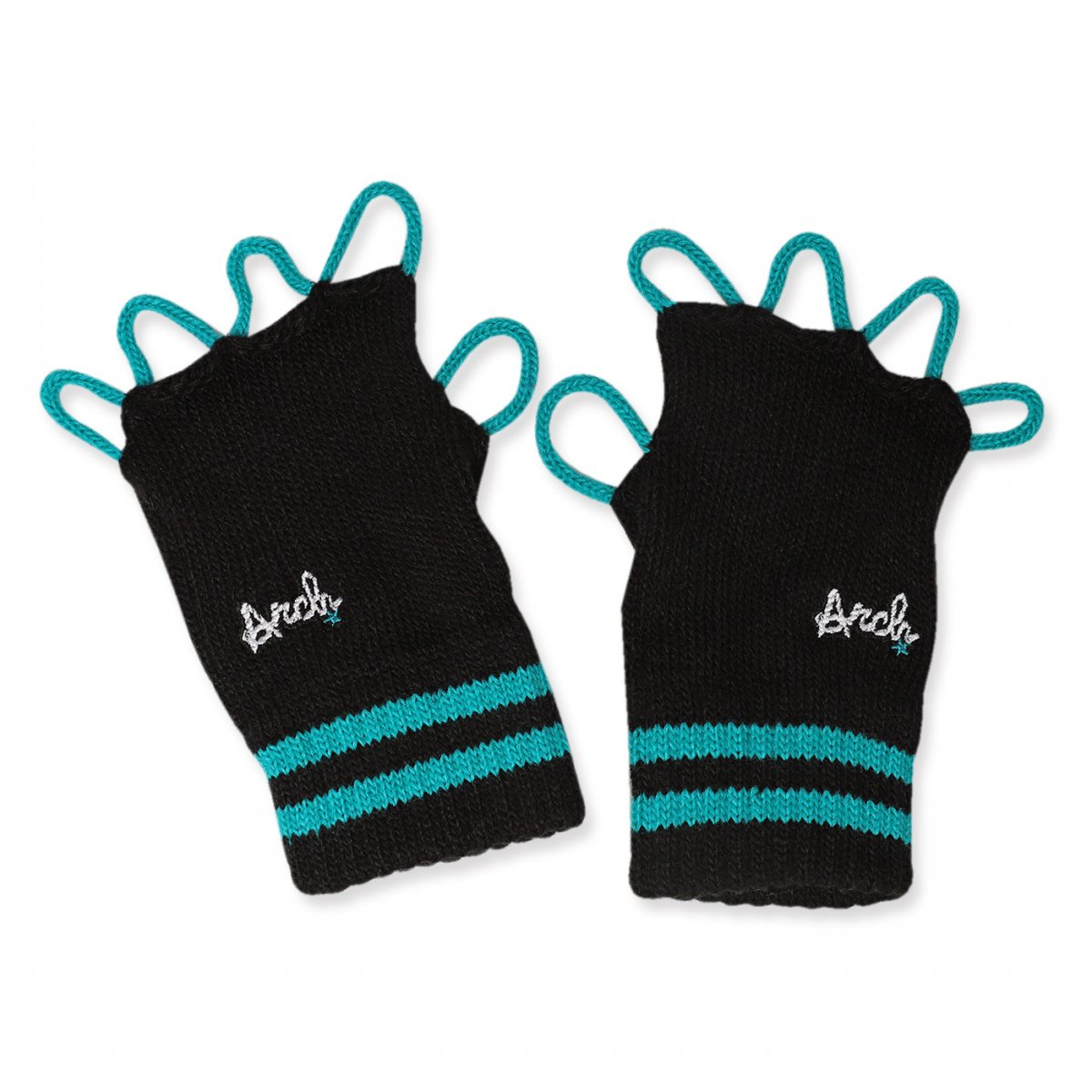 line crew glove【black/mint】