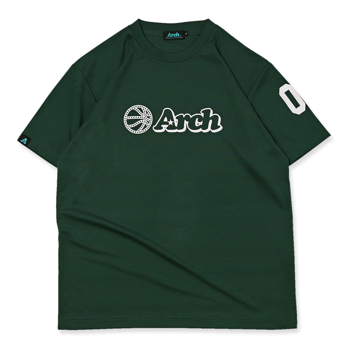 ball logo tee [DRY]【dark green/white】