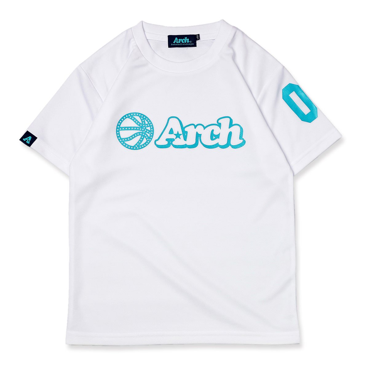 ball logo tee [DRY] [KIDS]【white/turquoise】