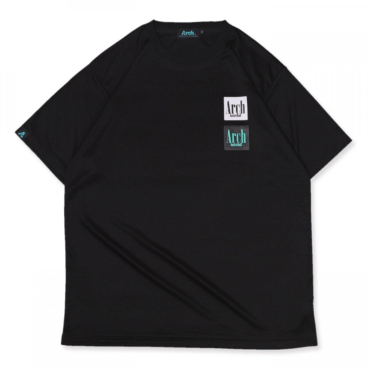 スクエア ロゴ Tシャツブラック