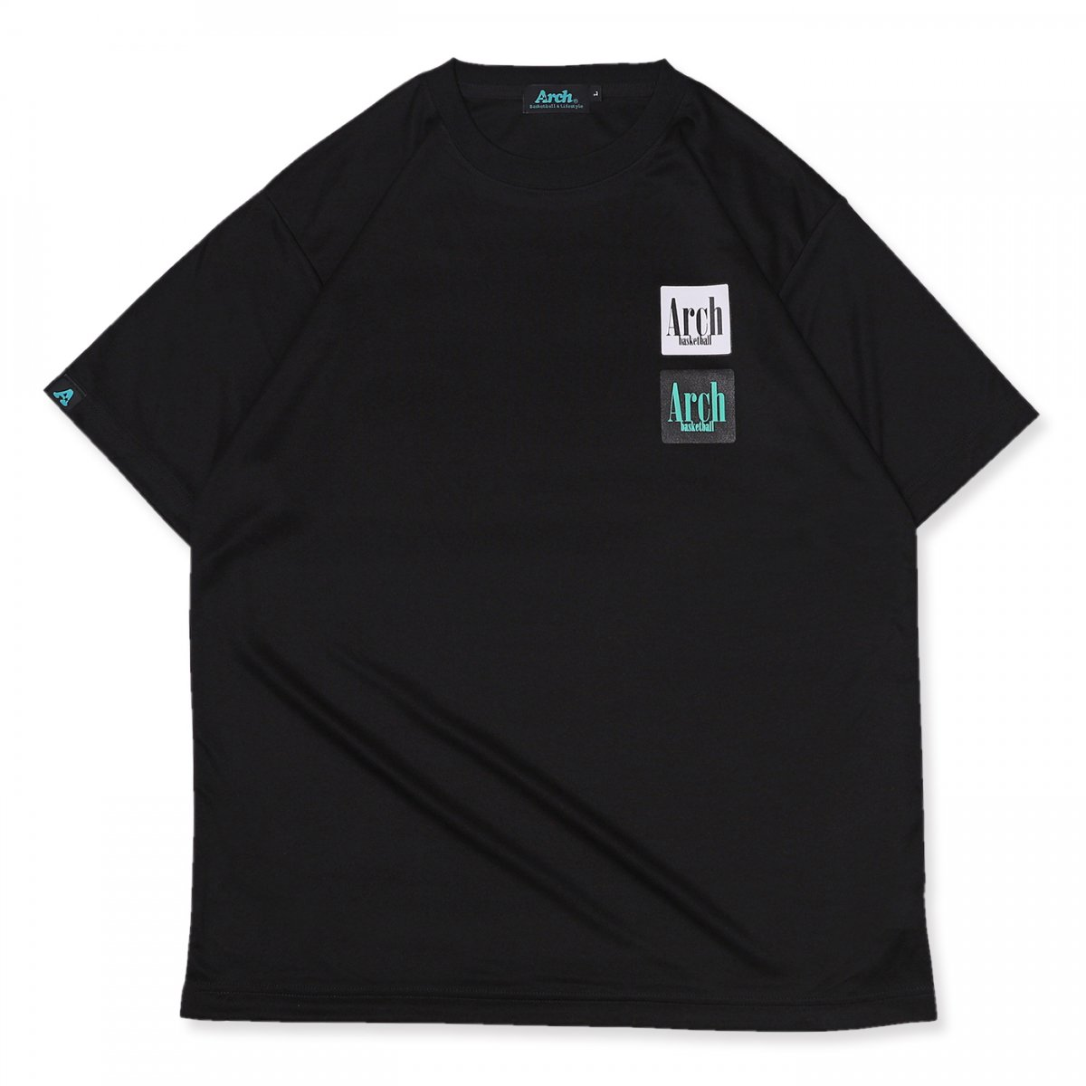square logo tee [DRY]【black】