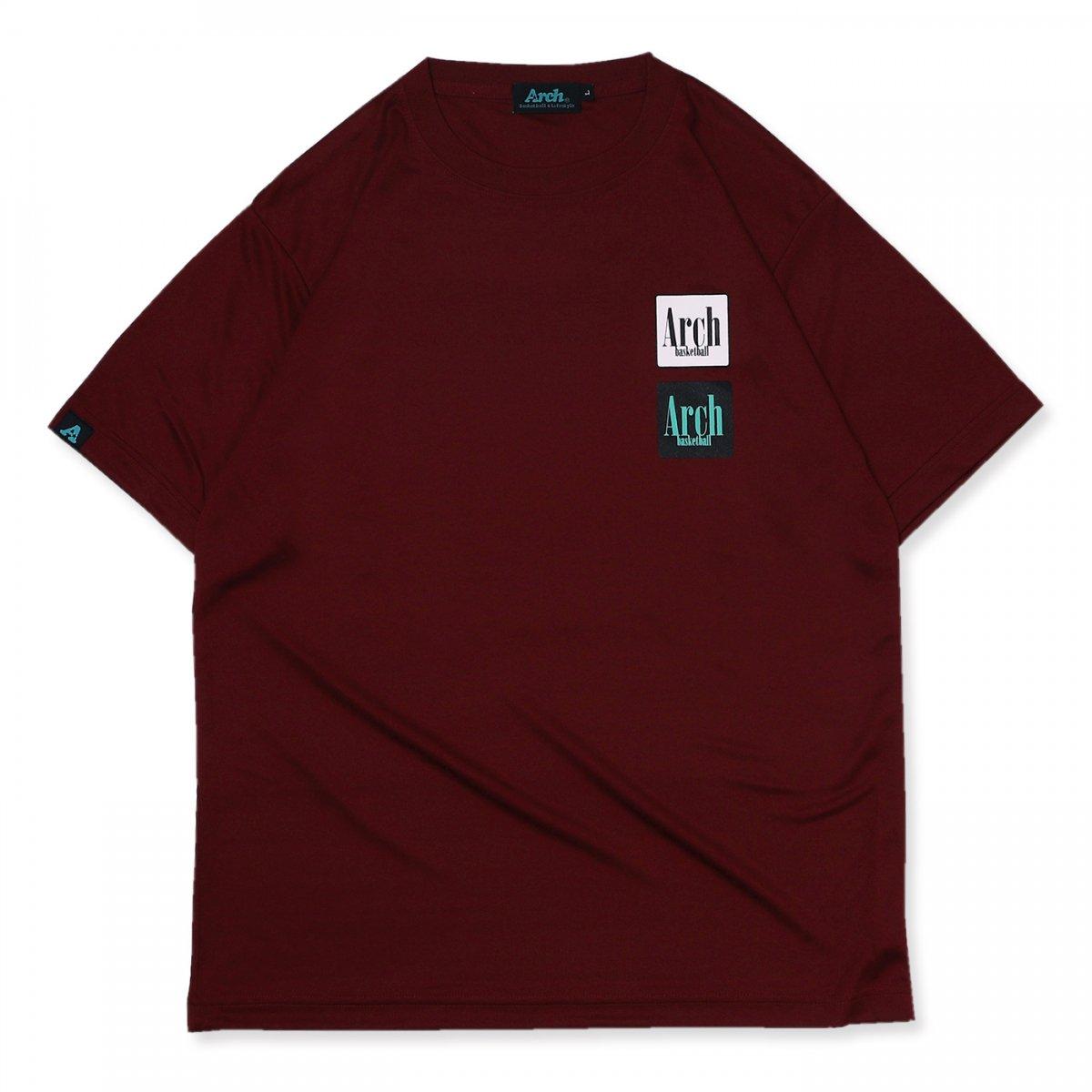 square logo tee [DRY]【burgundy】