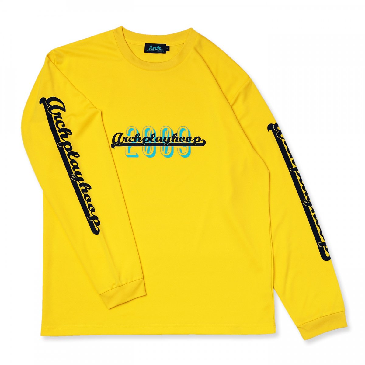 playhoop L/S tee [DRY]【yellow】