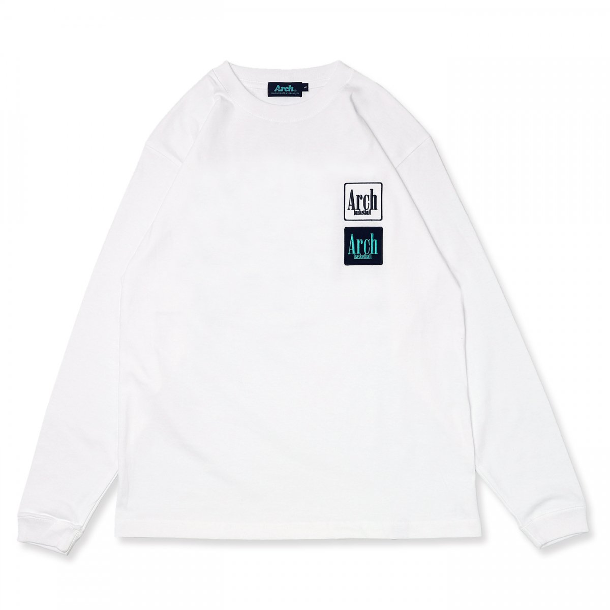 square logo L/S tee【white】